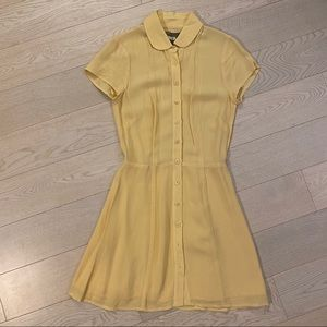 Reformation Yellow Mini Dress